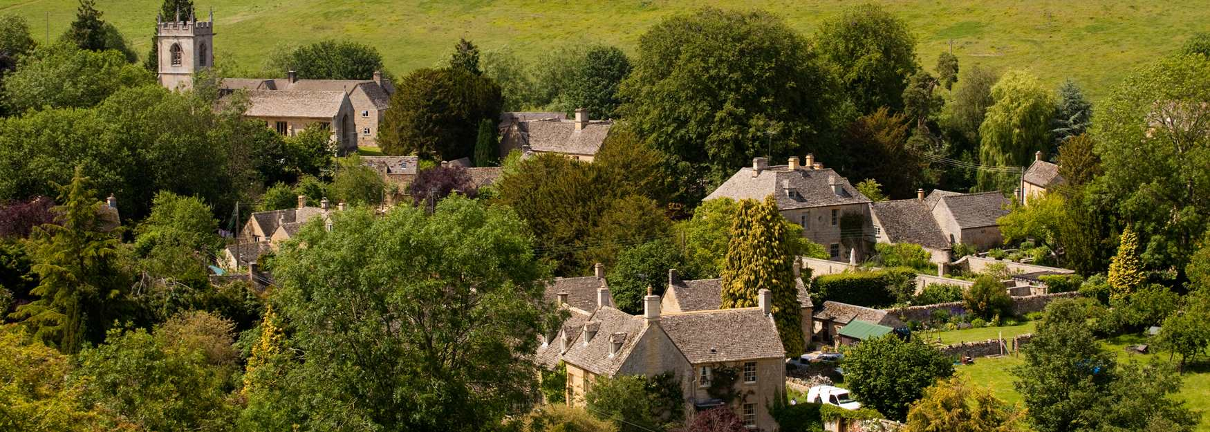 Cotswold Village from Above