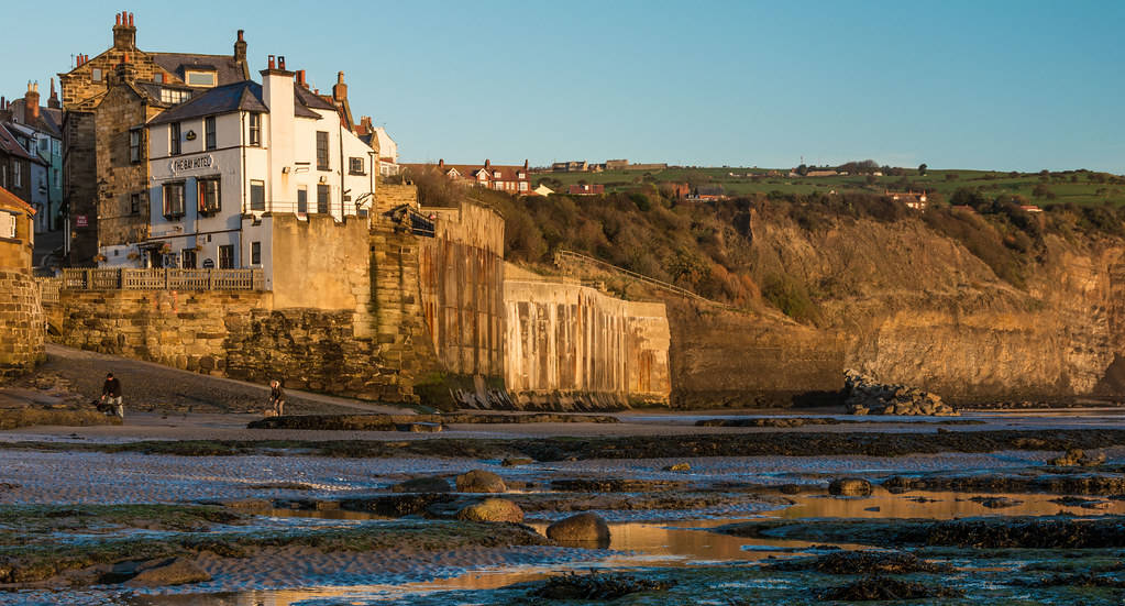 Robin Hoods Bay from the beach